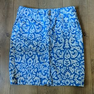 Patterned Blue Skirt